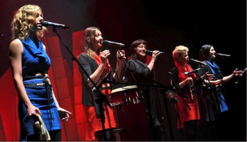 Acclaimed Australian group Coco's Lunch wowed the audience with their a cappella act.