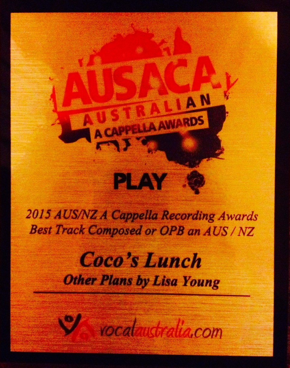 'Other Plans' wins Best Song Composed at AUSACA Play Awards!
